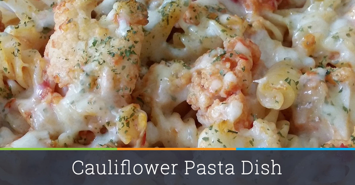 "Cauliflower ""pasta"" dish"