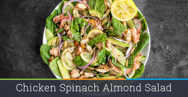 Chicken Spinach Almond Salad