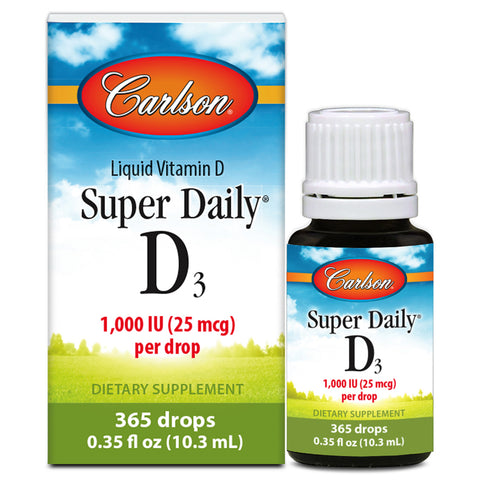 Vitamin D3 Drops - 1000 IU / Drop - 365 Drops