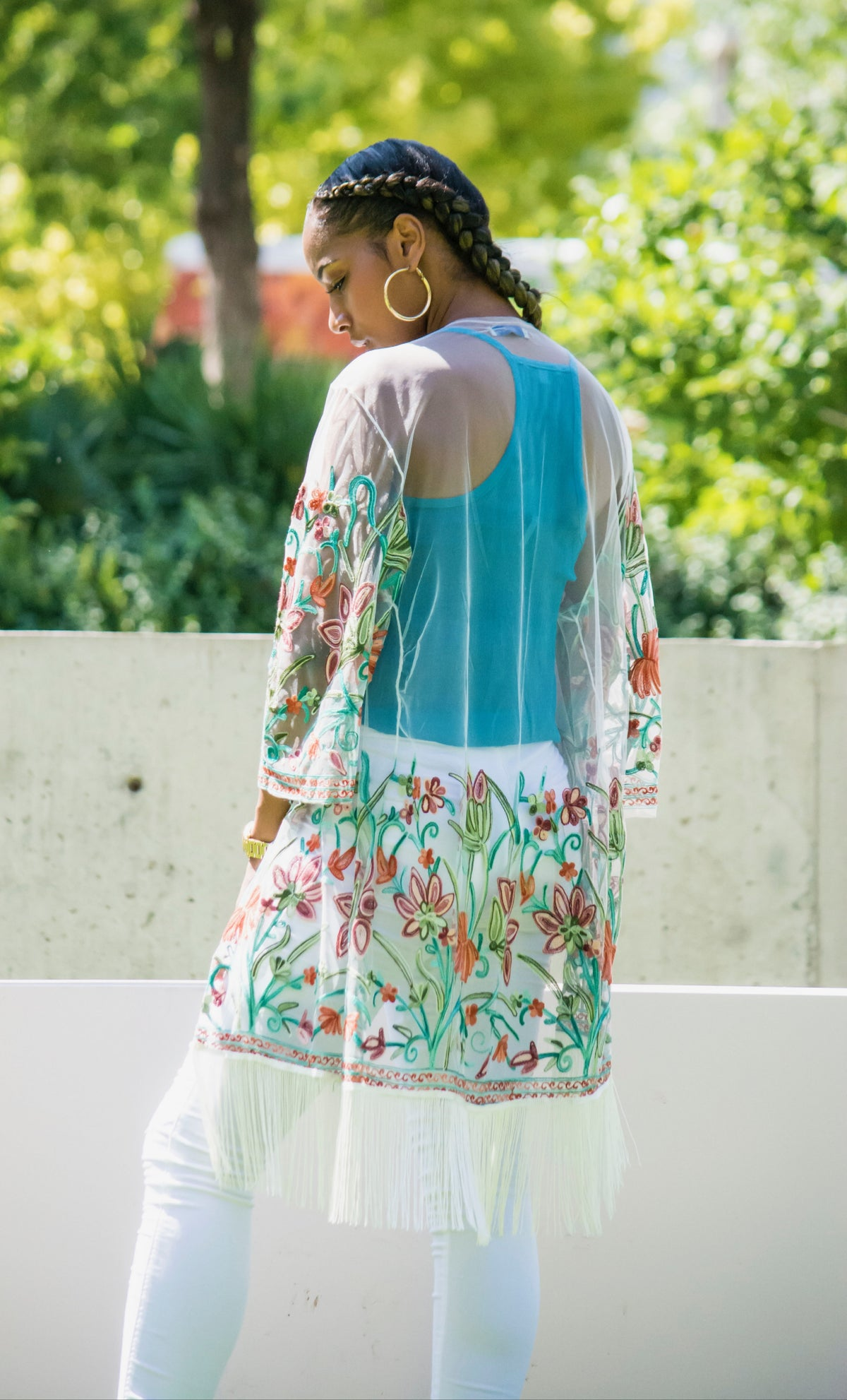 Floral Mesh Cover Up