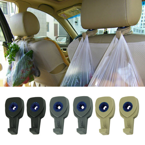 Organize Quick with 2Pcs Car Accessories Portable Headrest Seat Hanger Hook Holder Clip