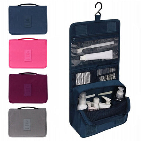 Organize Quick with Waterproof Hanging Travel Toiletry Cosmetic Storage Bag