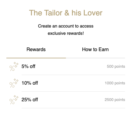 How to spend rewards with The Tailor & his Lover
