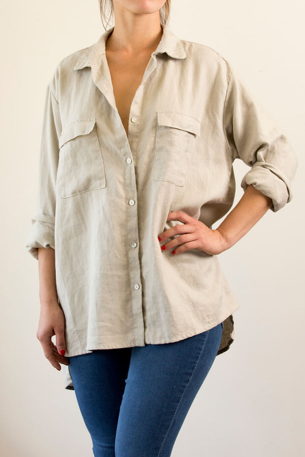 heavy weight Linen, boyfriend Shirt, perfect over anything