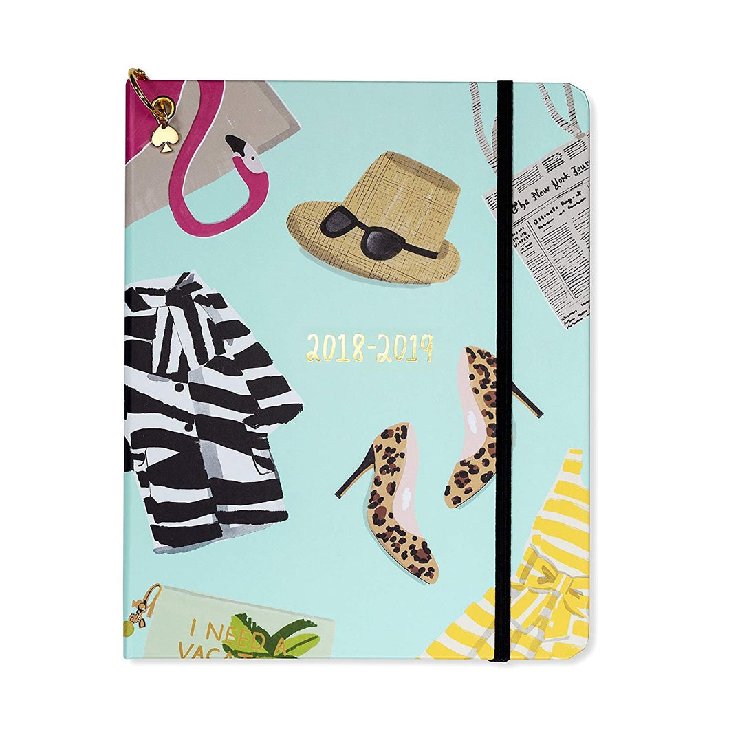 photo relating to Large Daily Planner named Kate Spade Major Instructional Everyday Planner 2018-2019 with Every day