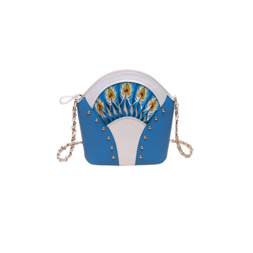 Feather Blue Shoulder Bag