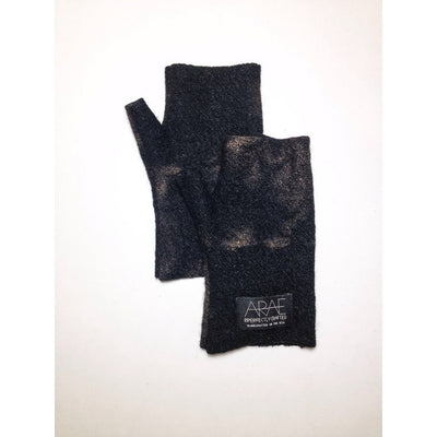 Onyx Wool  Short Fingerless Gloves