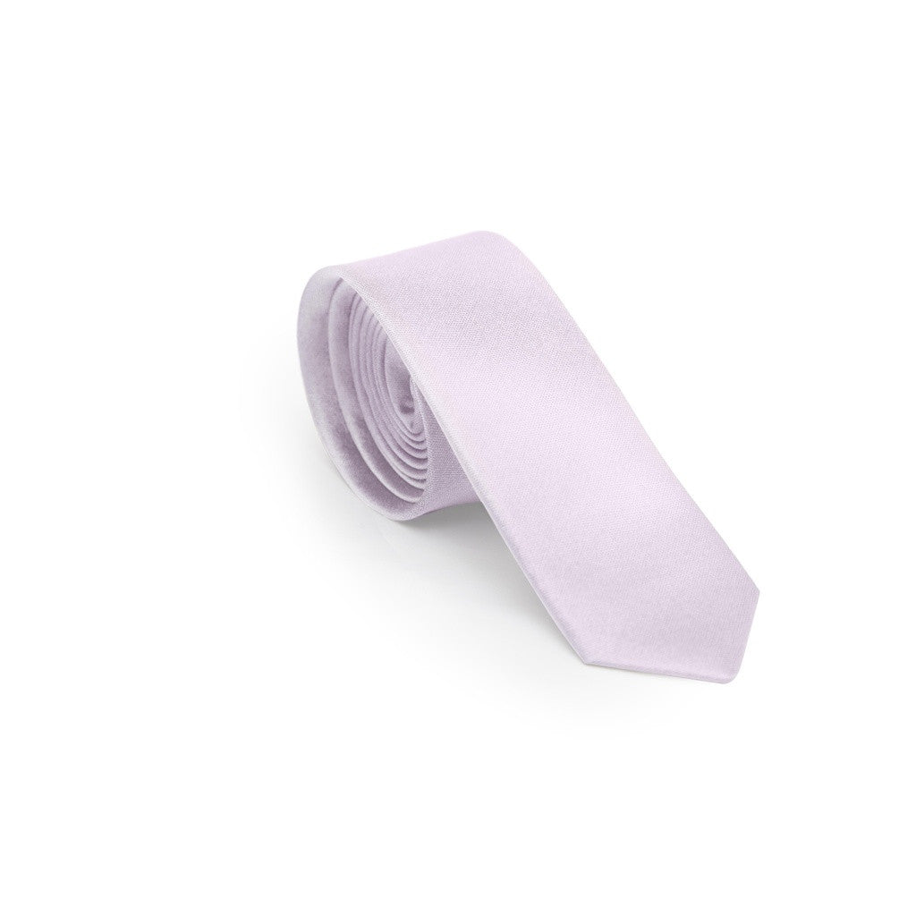 Frosted Lavender Skinny Tie