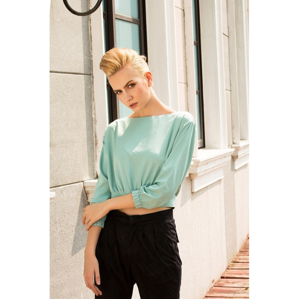 Tea time at the Ritz cropped top