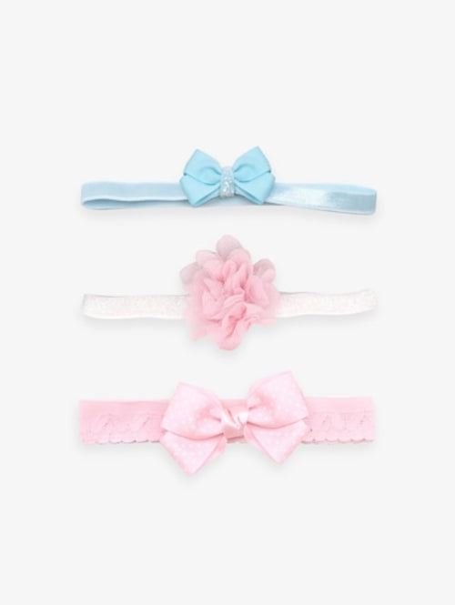 Girls Bow & Faux Flower Decorated Headband