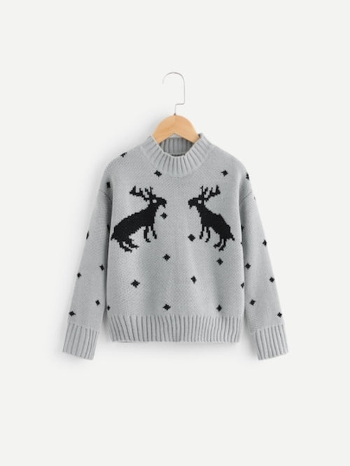 Toddler Girls Christmas Print Jumper
