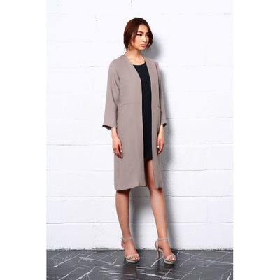 Embrace Nature Long Coat In Beige