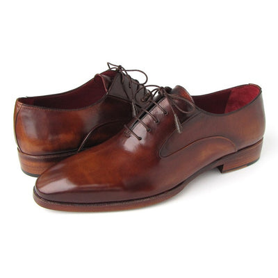 Paul Parkman Men's Plain Toe Brown Calfskin Oxfords (ID#019-BRW)
