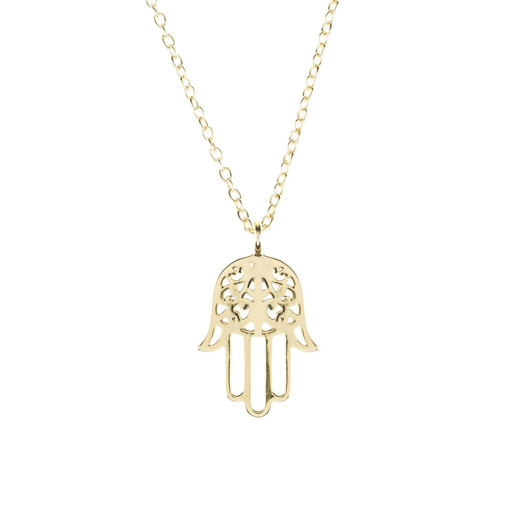 Cosmic Hamsa Necklace