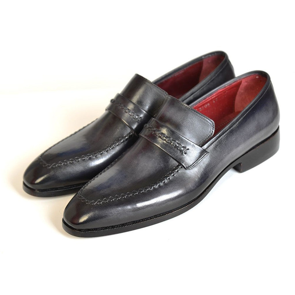 black single men in parkman Opanka construction side handsewn twisted leather sole single monkstrap style men's handmade shoes brown hand-painted antiqued leather upper leather sole with.