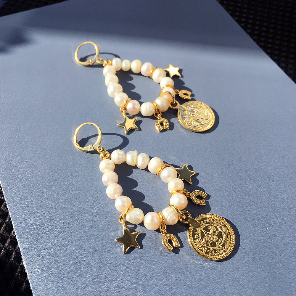 Lucky Charm Pearl Earrings