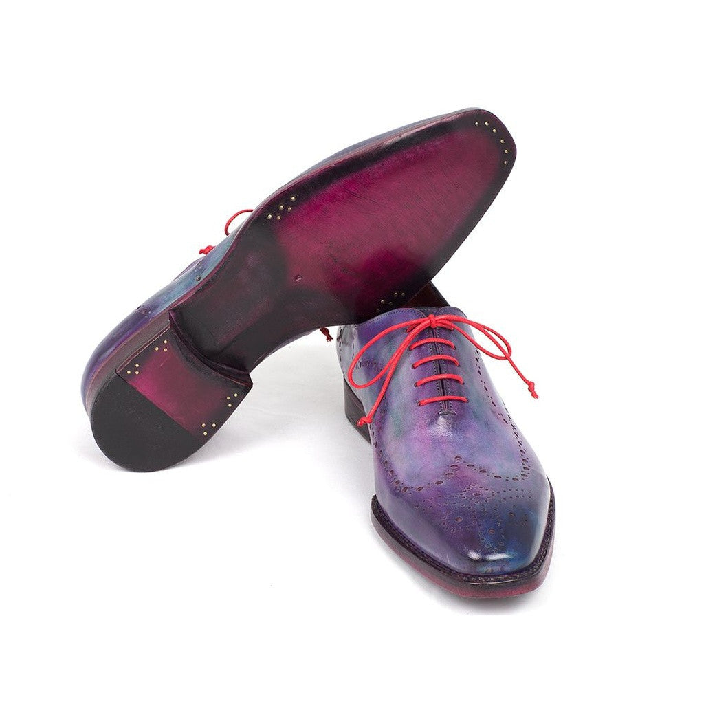 Paul Parkman Men's Wingtip Oxfords Goodyear Welted Purple (ID#87PRP11)