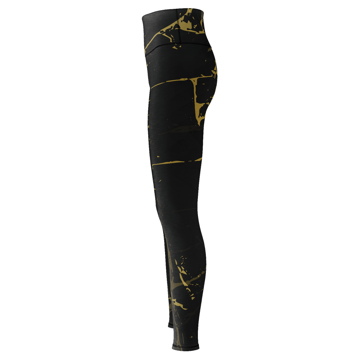 Gold Paint Yoga Pants