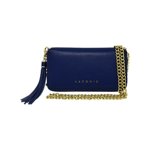 Laconic Style Trouvaille Leather Chain Clutch / Wristlet - Blue