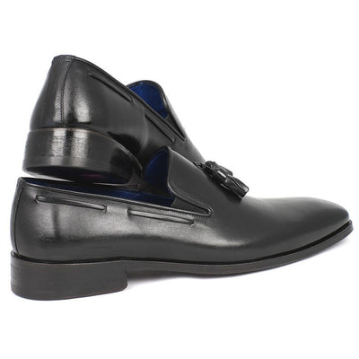 Paul Parkman Men's Tassel Loafer Black Leather Upper & Leather Sole (ID#5141-BLK)