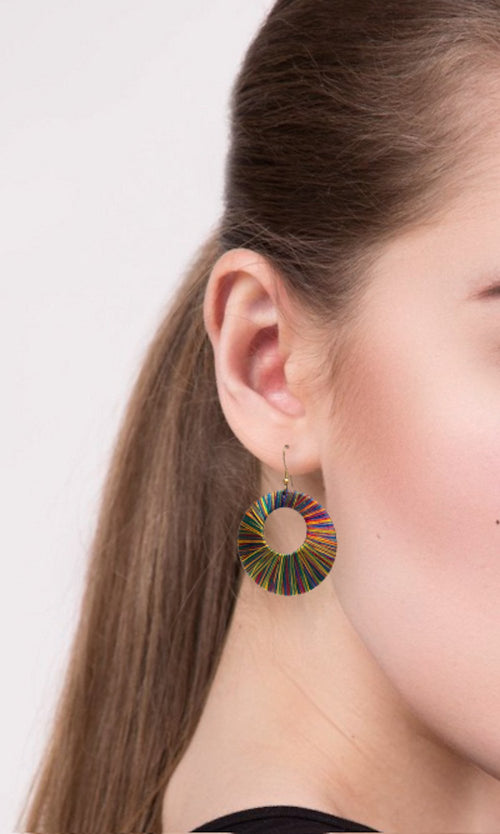Sanchali Silk Thread Hoops