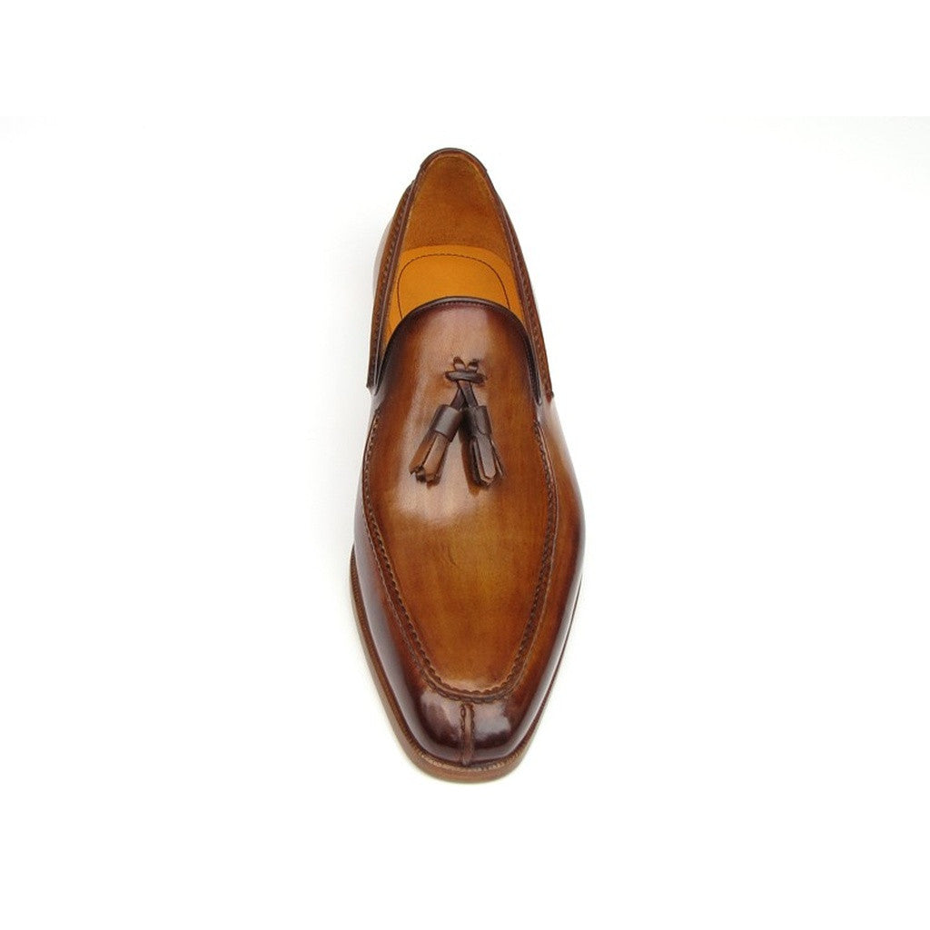 Paul Parkman Men's Tassel Loafer Camel & Brown  (ID#083-CML)