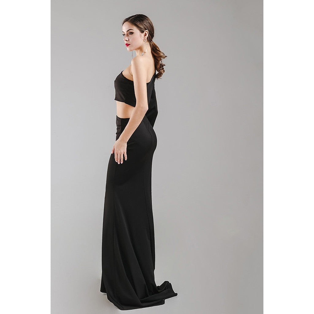 Black 2 Piece Gown