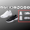 The One High Arch Orthopedic Comfort Walking Running Performance Black Sneakers Shoes for Men
