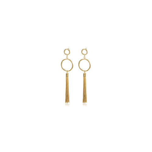 Circle Long Chain Earrings