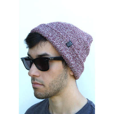 WKND Label Beanie (Burgundy)