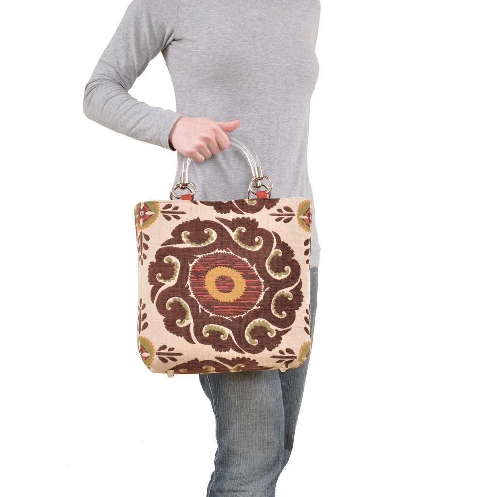 Marakesh Brown Small Tote