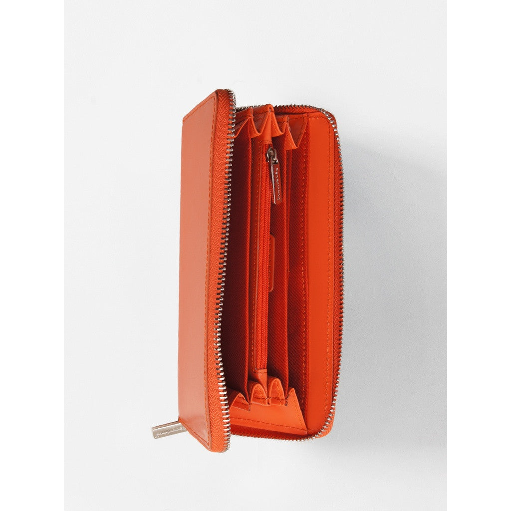 Long Wallet Tangerine Orange
