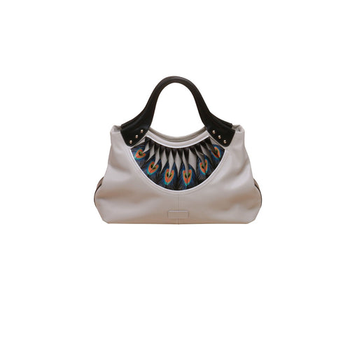 Feather White Tote