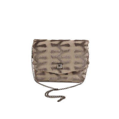 Totem Taupe square clutch