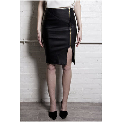The Leather Pencil Skirt