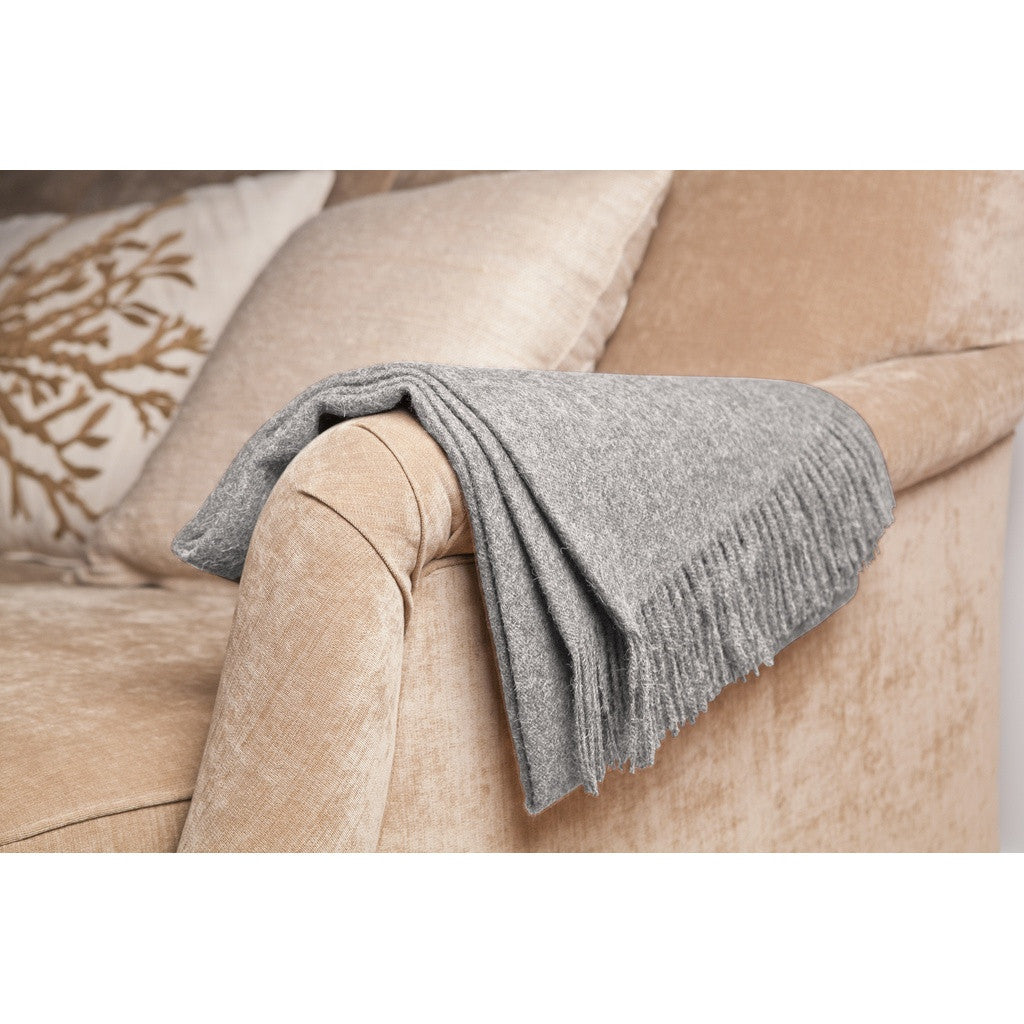Stone Baby Alpaca Throw