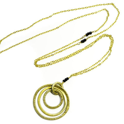'Triple Hoop' Necklace-Silver