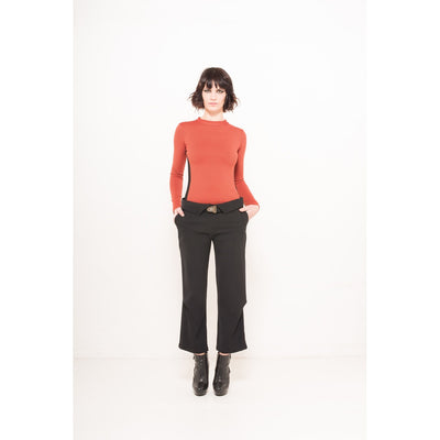 Collar cropped pants