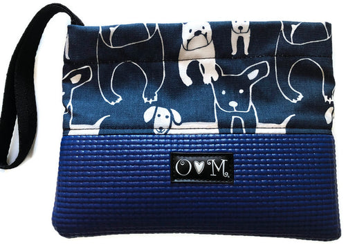 Slate Blue Clutch- Dog Fabric