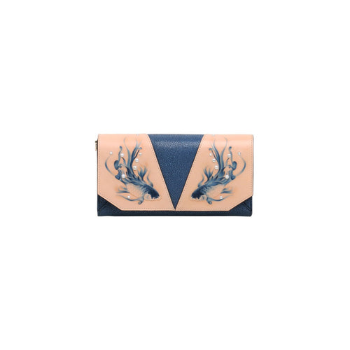 Fish Blue Crossbody Clutch