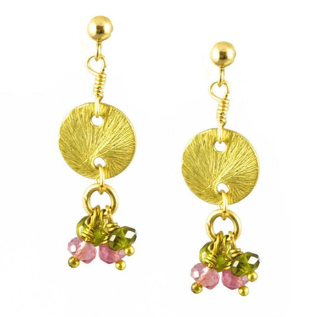 'Disk Drops' Earrings