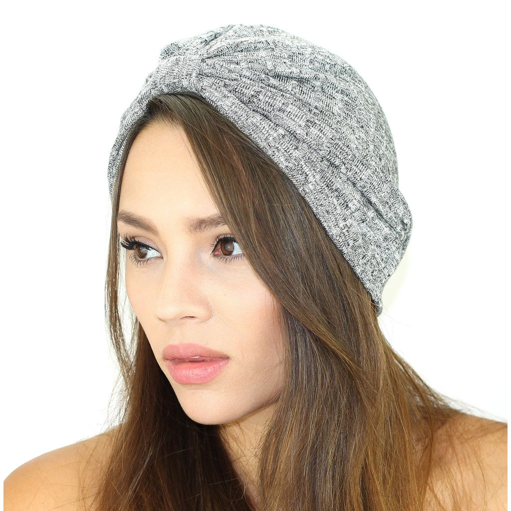 Rib Knit Sweater Turban