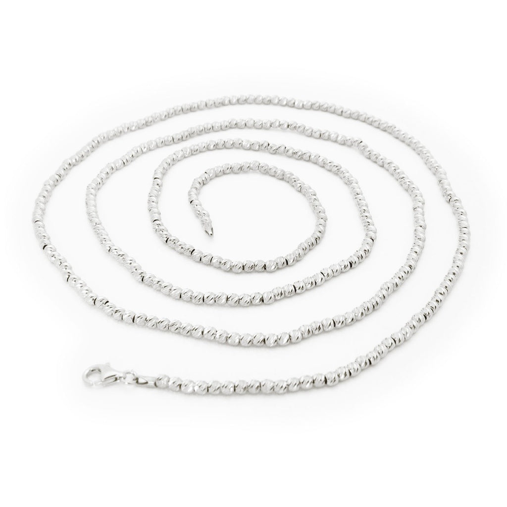 Italian Pebbles Chain Necklace dipped in Platinum, 36""