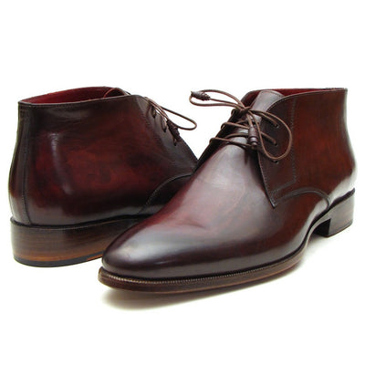 Paul Parkman Men's Chukka Boots Brown & Bordeaux (ID#CK43E8)
