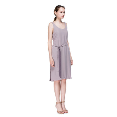 Slip Dress with Plunging Neckline