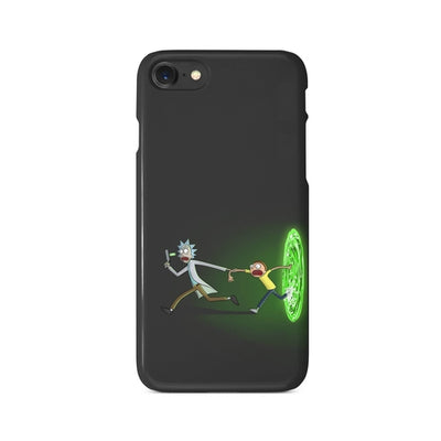 Rick and Morty Portal Gun Adventures iPhone Case