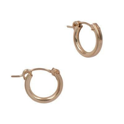 14k Gold Filled Minimalist Hollow Hoop Earrings,