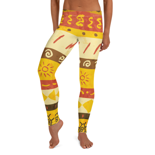 Yellow Sun Leggings