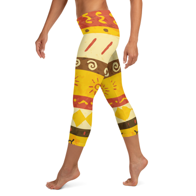 Yellow Sun Capri Leggings