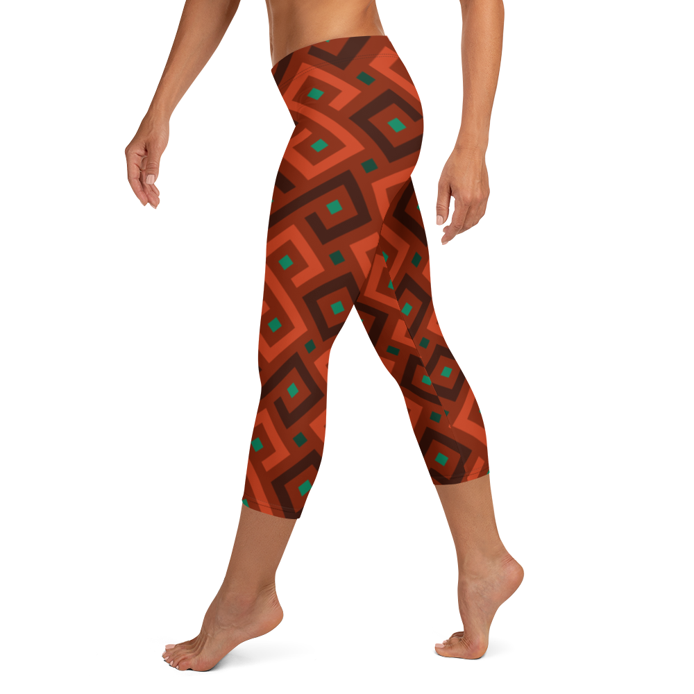 Red 8 Capri Leggings